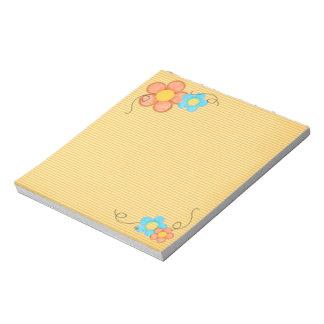 Checks n Flowers Note Pad