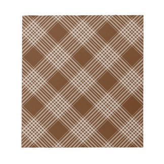 Checks Plaid Tartan Brown Diagonal Wallpaper Memo Notepads