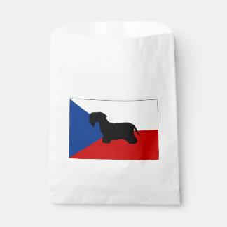 checo-república cesky flag.png del silo del bolsas de recuerdo