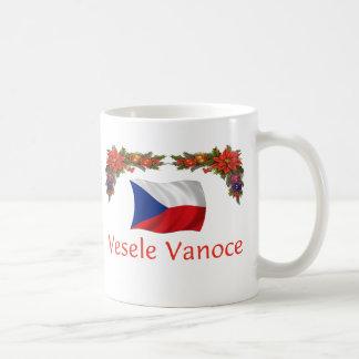 Checo Vesele Vanoce (Felices Navidad) Taza Básica Blanca