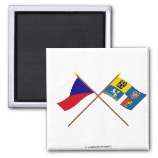 Checo y banderas cruzadas Moravia-Silesia Iman De Nevera