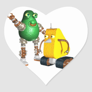 CheddarCheeseBot AvocadoBot Heart Stickers
