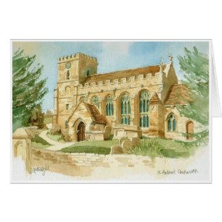 Chedworth Church greeting card