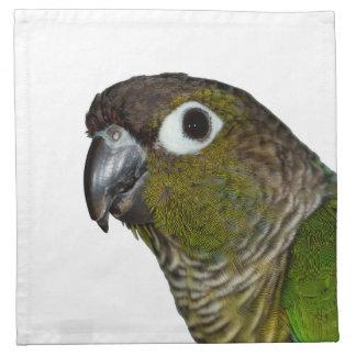 Cheeked verde Conure Servilleta Imprimida