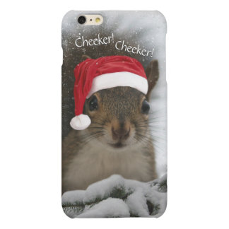 Cheeker Cheeker Santa Squirrel in Snow Matte iPhone 6 Plus Case