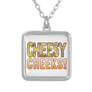 Cheeks Blue Cheese Square Pendant Necklace