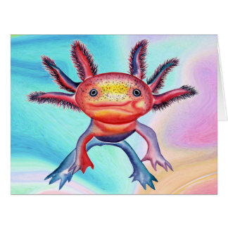 Cheeky Axolotl all occasions greeting card