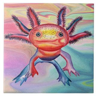 Cheeky Axolotl decorative tile
