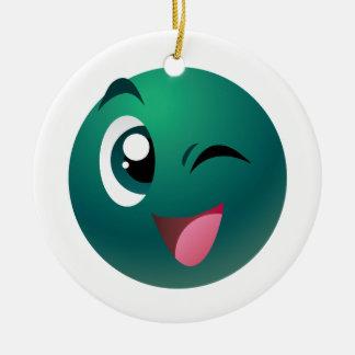 Cheeky Ball Ceramic Ornament