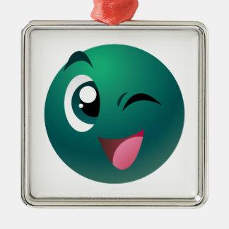 Cheeky Ball Metal Ornament