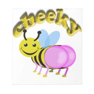 cheeky bee notepad