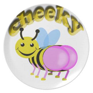 cheeky bee plate