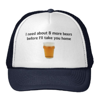 cheeky beer drinkers cap trucker hat