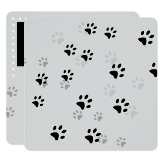 Cheeky Cat Footprints Card