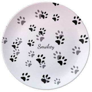 Cheeky Cat Footprints Template Plate