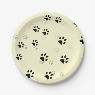 Cheeky Cats Footprints Paper Plate
