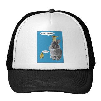 Cheeky Chick Easter Bunny Cartoon Trucker Hats