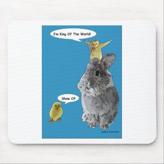 Cheeky Chick Easter Bunny Cartoon Mousepad
