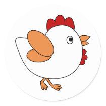 Cheeky Chicken Classic Round Sticker