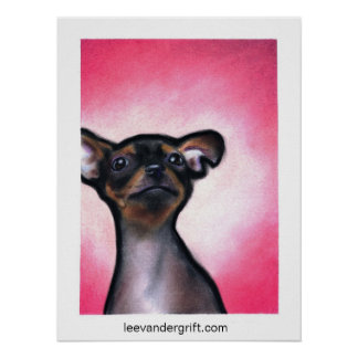 Cheeky Chihuahua, leevandergrift.com Posters