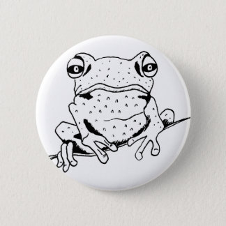 Cheeky Frog Pinback Button