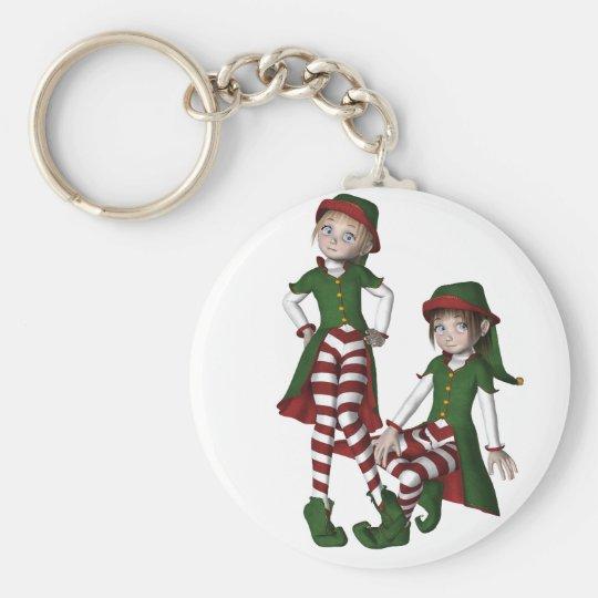 Cheeky Girlie Elves Keychain