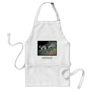 Cheeky Inquisitive Woodland Squirrel Adult Apron