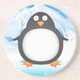 Cheeky King Penguin's Sandstone Coaster