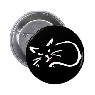 cheeky kitty pinback buttons