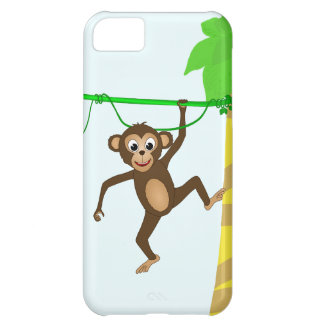 Cheeky Little Monkey Cute Cartoon Animal Cover For iPhone 5C
