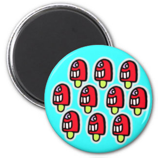 cheeky loll 2 inch round magnet