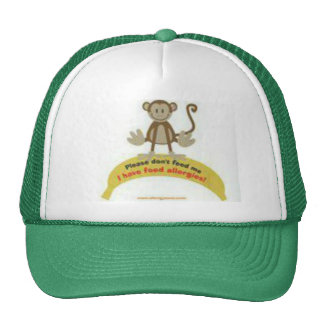Cheeky Monkey Allergy Awareness Hat