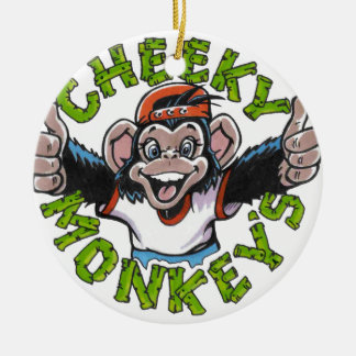 CHEEKY MONKEY CERAMIC ORNAMENT