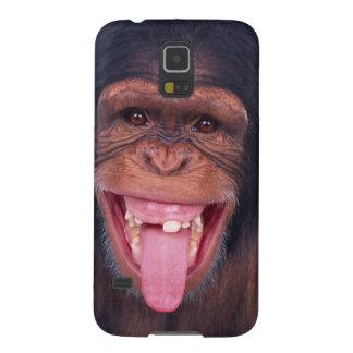 cheeky monkey chimp chimpanzee wild animal galaxy s5 cases