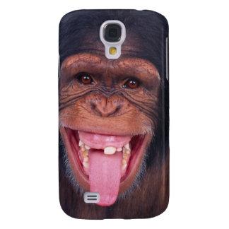 cheeky monkey chimp chimpanzee wild animal samsung galaxy s4 covers