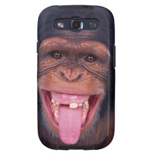 cheeky monkey chimp chimpanzee wild animal galaxy SIII cases