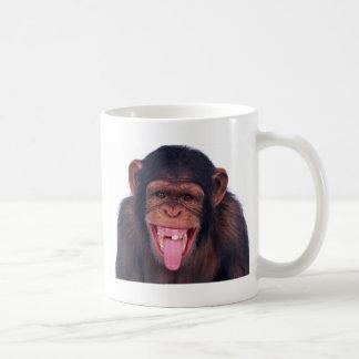 cheeky monkey chimp chimpanzee wild animal coffee mug