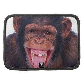 cheeky monkey chimp chimpanzee wild animal folio planner