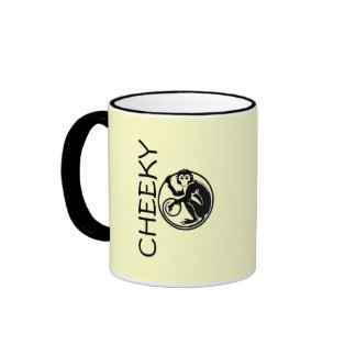 Cheeky Monkey Illustration Ringer Coffee Mug