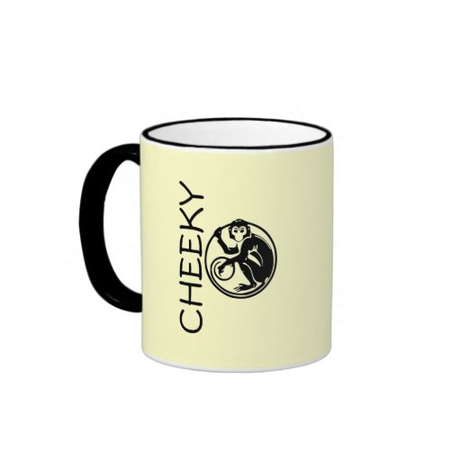 Cheeky Monkey Illustration Coffee Mugs