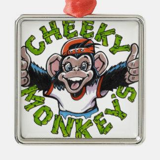 CHEEKY MONKEY METAL ORNAMENT
