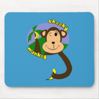 Cheeky Monkey Mouse Pads