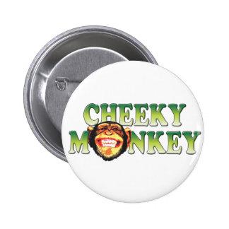 Cheeky Monkey Pinback Buttons