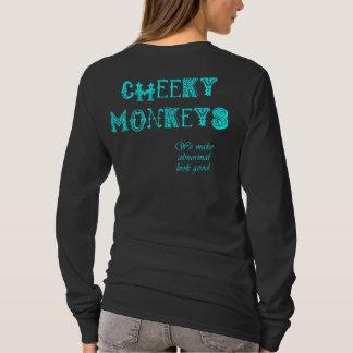 Cheeky Monkeys - Cyan T-Shirt