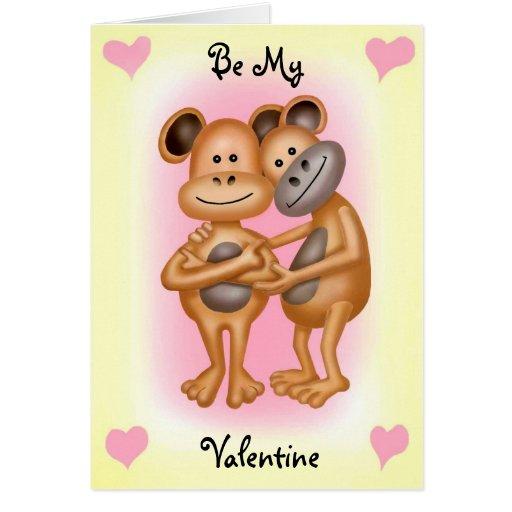 cheeky monkeys in valentines card zazzle
