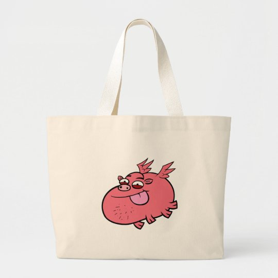 Cheeky Pig Large Tote Bag