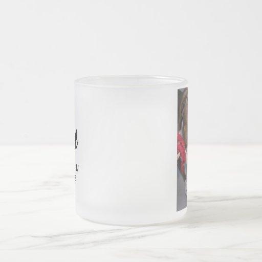 Cheeky Pitbull 10 Oz Frosted Glass Coffee Mug