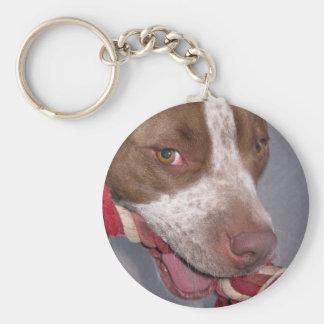 Cheeky Pitbull Keychain
