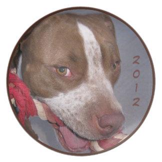 Cheeky Pitbull Melamine Plate