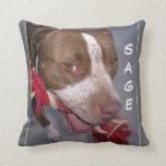 Cheeky Pitbull Pillow